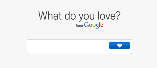 Google推出What do you love网站