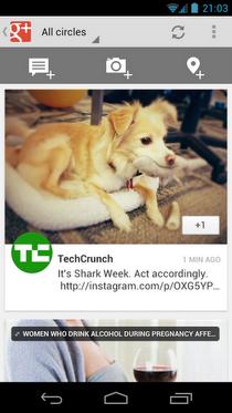 Google+ Android应用升级