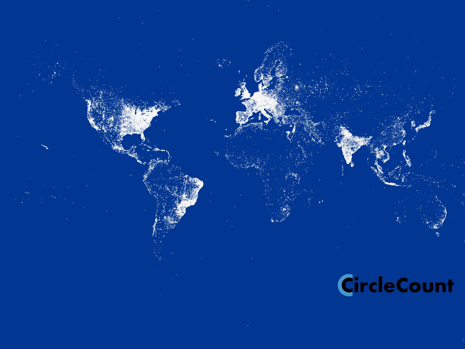 Google+用户分布地图
