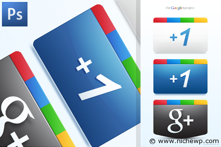Google Plus + Icons Free PSD